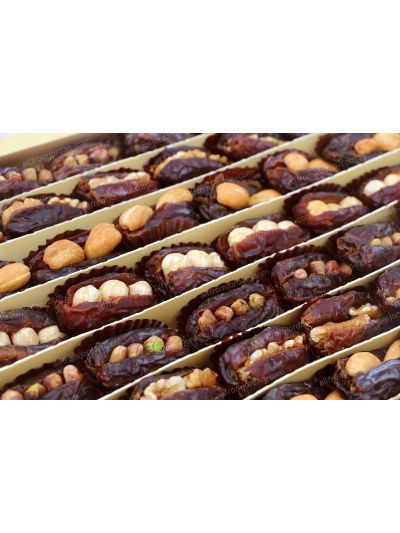 Jewel medium sized whole dates stuffed with nuts, 1kg pack
