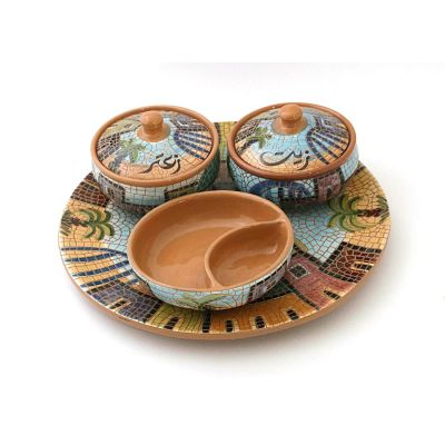 Handmade breakfast ceramic serving set 1 (6pcs)