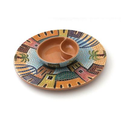 Handmade ceramic serving set 2 (2pcs)