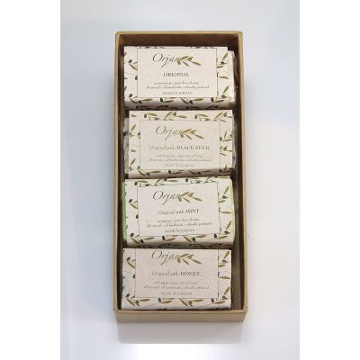 'Garden Mix 2' handmade olive oil soaps - 4 pack