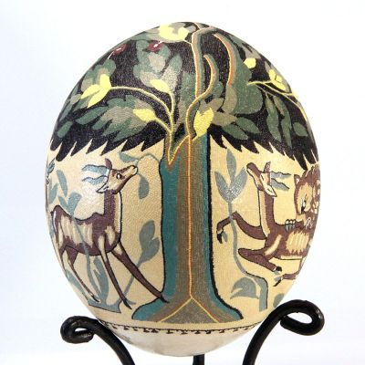 """Tree of Life"" hand painted ostrich egg"
