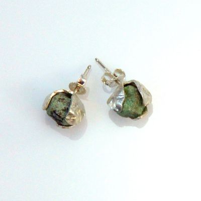 Dana stone silver earrings