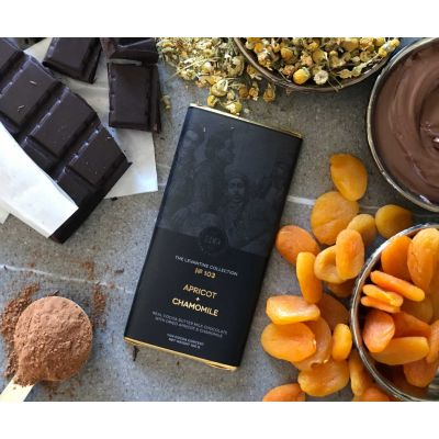 Herb + Design No 103 Apricot + Chamomile + Milk Chocolate Bar 100g