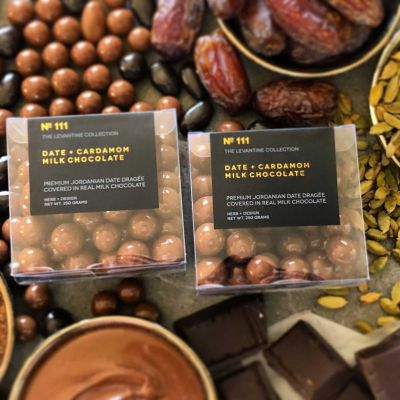 Herb + Design No 111 Date + Cardamom Milk Chocolate Dragée 250g