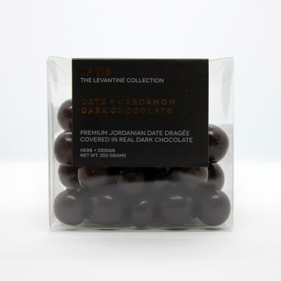 Herb + Design No 116  Date + Cardamom Dark Chocolate Dragée 250g