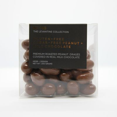Herb + Design No 118  Gluten Free, Sugar Free  Peanut + Milk Chocolate Dragée 250g