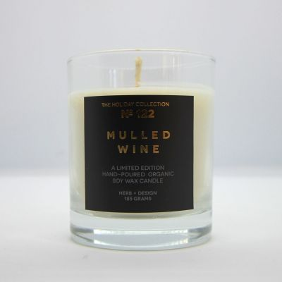 Herb + Design No 122 Mulled Wine Candle In Glass Container