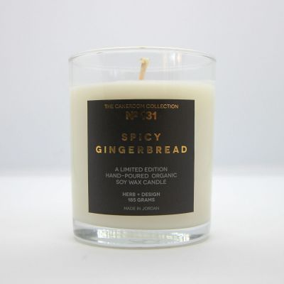 Herb + Design No 131  Spicy Gingerbread Candle in Glass Container - Limited Edition