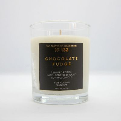 Herb + Design No 132  Chocolate Fudge Candle in Glass Container - Limited Edition