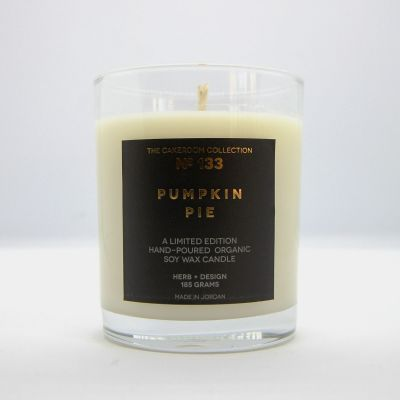 Herb + Design No 133  Pumpkin Pie Candle in Glass Container - Limited Edition