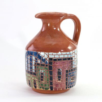 Handmade small ceramic jug