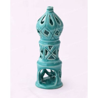 """Minaret"" handmade ceramic candle holder - Small"