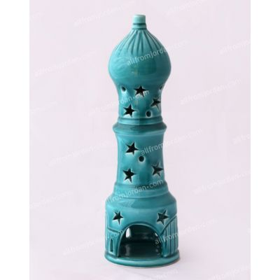"""Minaret"" handmade ceramic candle holder - Medium"