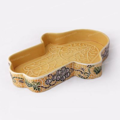 """Hand of Faitma"" Handmade ceramic serving plate - Large"