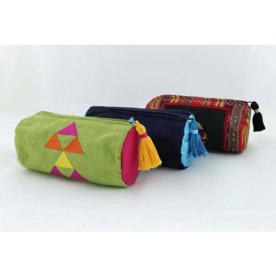 Hand made cylinder pencil case