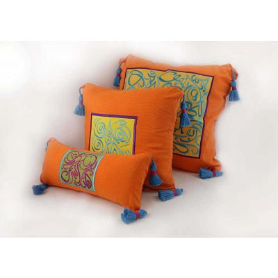 Embroidered 3 pieces cushion set