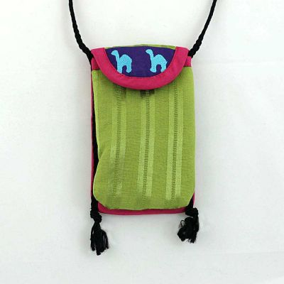 Embroidered mobile phone sac