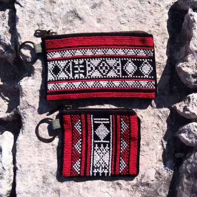 Tribalogy handmade embroidered make up purse (set of 2)