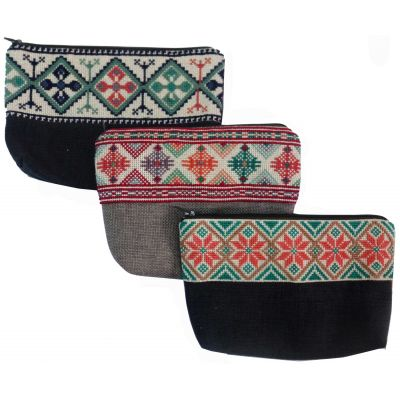 Joria® traditional Palestinian embroidered make up bag