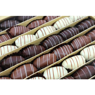 Jewel chocolate dipped whole dates stuffed with almond, 1kg pack