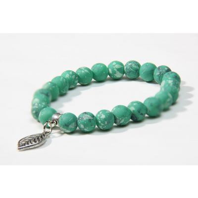 """Mother Earth"" Green stone handmade bracelet"