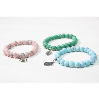 Assorted Colors -3 pcs handmade bracelets