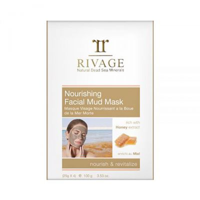 Rivage Nourishing Facial Mud Mask Rich With Honey Extract (25g X 4)