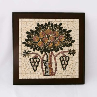 "Madaba ""Tree of Life"" Framed Mosaic 20x20cm (8""x8"")"