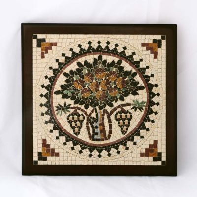 "Madaba ""Tree of Life"" Framed Mosaic 25x25cm (10""x10"")"