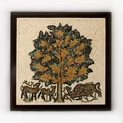 "Jericho ""Tree of Life"" 2 Framed Mosaic 30x30cm (12""x12"")"