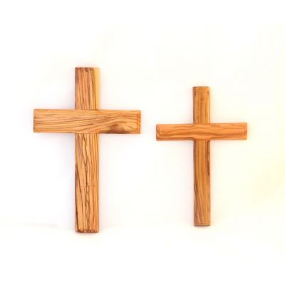 Olive Wood Wall Cross Latin