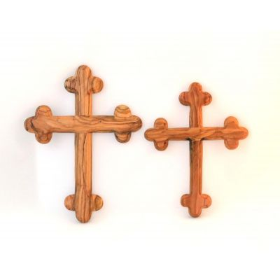 Olive Wood Wall Cross Budded