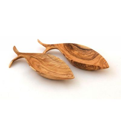 Handmade Olive Wood Fish Bowl