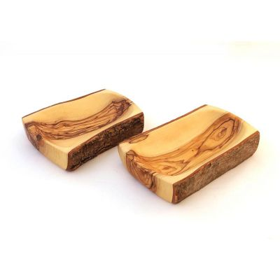 Olive Wood Bark Bowl – Rectangular, Regular