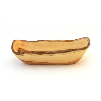 Olive Wood Bark Bowl – Deluxe 9""