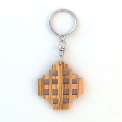 Jerusalem Cross Key Chain