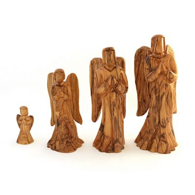 Holy Land Olive Wood Praying Angel Figures